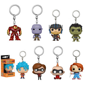 Funko POP Invincible Hulk Thor 3 Action Figur Marvel Superhero Blue Hair Goku Stretching Anime Game Figurine Toy Keychain