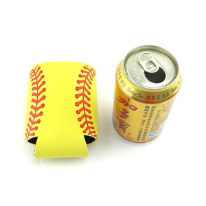 Personalizzato Cooler Cup Sleeve Stubby Cool Can Holder Dust Proof pieghevole Baseball Shape Bottle Holder Materiale sommergibile 1 8ny ii