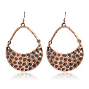 소박한 초승달 드롭 귀걸이 Hippy 보헤미안 쥬얼리 Dangle 귀걸이 그녀의 아이디어를위한 여자 귀걸이 선물 Chandelier