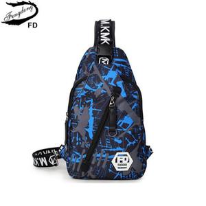 Fengdong camouflage bleu mâle poitrine Sac tissu oxford imperméable une femme d'épaule sacs de voyage hommes occasionnels Sling Sac à bandoulière