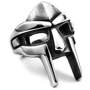 Atacado New Fashion Aço Inoxidável Do Punk Jóias Faraó Egípcio Máscara Anel Masculino Personalidade Anéis Superman Homem De Ferro Anel Frete Grátis
