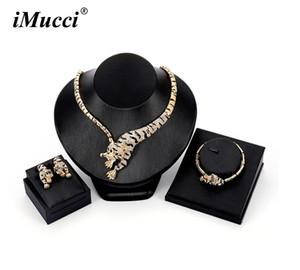 Imucci individualidade novas mulheres cor dourada tigre forma estilo selvagem conjuntos de jóias colar / brinco / pulseira acessórios do partido