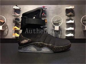 2019 Top Qualité Air Mag Retour Au Futur Soldat Bottes Chaussures Limited Edition LED Luminous Hommes Chaussures 2019 Mode Led Chaussures Avec Boîte