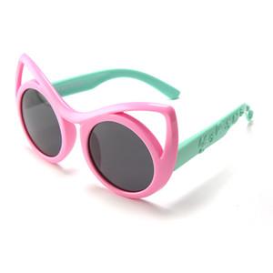 Солнцезащитные очки для детей поляризованные солнцезащитные очки дети пользовательские Cat Eye солнцезащитные очки УФ-защитное стекло силиконовый материал гибкий