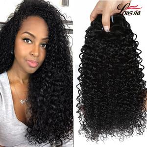 8a Raw indiano riccio crespo estensioni dei capelli umani non trattati capelli umani indiani ricci dei capelli del Virgin tessuto all'ingrosso indiano 3/4 Bundles