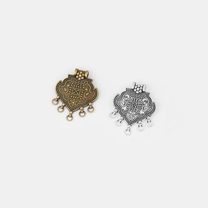 5pcs Ethnic Longevity Lock Connectors Pendants Carved Mandarin Duck Charm DIY Jewelry Making Findings 62*50mm