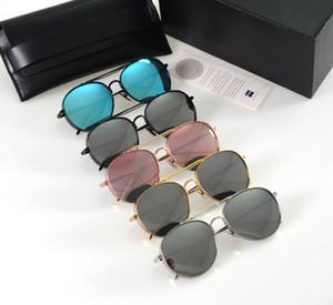 Marco de nuevo de la manera matón grande Aviación estilo polaroid gafas de sol de las mujeres de los hombres de Corea Marca V Diseño grueso metal Gafas de sol Gafas de Sol