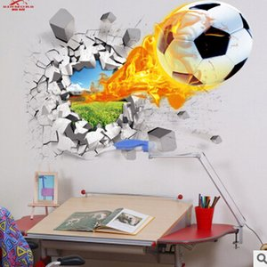 3d wall stickers hot sale soccer ball football Wall Decal stickers for kids Sport Boy rooms bedroom Art decor