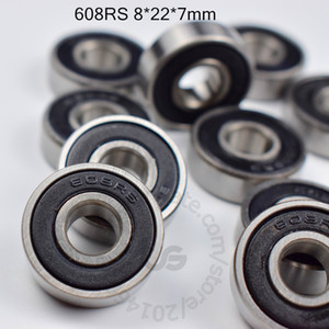 608RS rulmanlar 10pcs Metal Mini free shipping 608 608Z 608ZZ 8 * 22 * 7 mm krom çelik rulman Rulman Minyatür Mühürlü