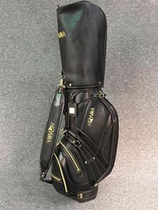 2018 ultima borsa del carrello di golf struttura del coccodrillo di alta qualità borsa da golf standard di stile borsa da golf degli uomini d'affari di stile Commemorative di colore nero