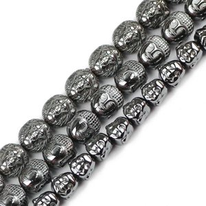 8mm Lion Buddha Maitreya Kopf schwarz Hämatit Perlen Naturstein Perlen Schmuck Armband DIY Entdeckungen Zubehör machen