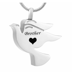 Fashion jewelry Dad Engraved Bird Ashes Necklace Urn Pendant Cremation Memorial Jewelry stainless steel Memorial Keepsake