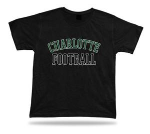Tee-shirt tee-shirt Charlotte FOOTBALL design de style de vêtements de stade de Caroline du Nord USA