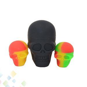 Forma del cráneo 3ML 15ML Contenedor de silicona antiadherente Gotas de goma pequeñas de la categoría alimenticia Dab Tool Storage Oil Holder Mini Contenedor de cera DHL gratuito