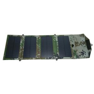 PortableFoldable Handy-Ladegerät Solarbetriebene + 7W Mono Solar Panel + Universal USB-Ausgang + Handle Wallet Bag Charger