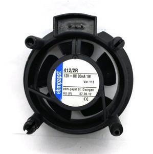 Orijinal EBMPAPST 412 / 2R 12 V 80MA 1 W Cihaz soğutma fanı