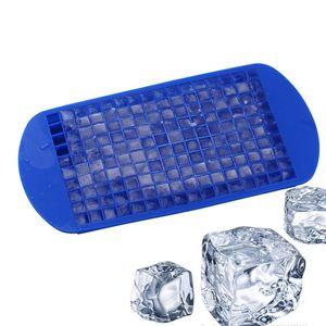 160 Izgaralar Silikon Buz Küpleri 5 renkler Çevre Dostu silikon kare buz makinesi Tepsi mutfak bar araçları