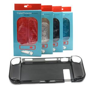 Nuovo caso cristallino interruttore protettivo trasparente coperture a cristallo NS custodia per Nintendo Switch spedizione gratuita