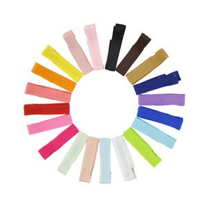 New Small Solid Color Baby Haarspange DIY Clips Tuch gewickelte Sicherheit Hair Clips Kind-Kleinkind-Haarnadel Haarschmuck