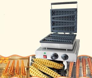 Бесплатная доставка Electric 4 PCS Lolly Waffle Makers 220V / 110V Рождественская елка Вафельная машина Pine Crunchy Machine LLFA