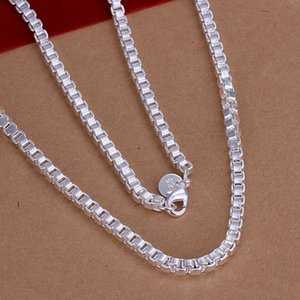 BN016 Promotion!wholesale 925 sterling silver necklace hot sale factory price , 925 silver fashion jewelry Box Necklace