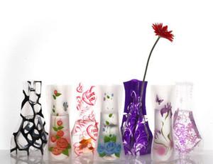 12 * 27cm 크리 에이 티브 분명 환경 친화적 인 접이식 꽃 PVC 꽃병 깨지지 않는 재사용 가능한 홈 웨딩 파티 장식 DHL