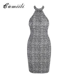 CIEMIILI Mode Frauen Kleid 2018 Sexy Nachtclub Tragen Partei Backless Vestidos Sexy Sleeveless Schulterfrei Bandage Kleid Kleidung