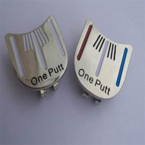 One Putt Ball Marker Golf Cap Clip Caiton Golfs Hebilla Metal Target Caps Clips Alineación exterior Herramientas de puntería 10bs gg