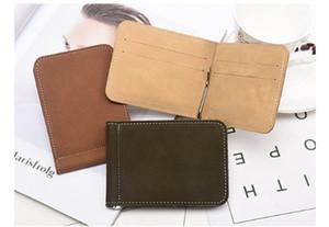 Новый матовый кошелек короткий стиль ультра-тонкий американский банкноты клип usd клип металл нулевой бумажник творческие производители прямых продаж