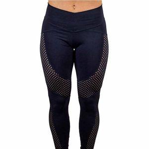 2018 New Quick-drying Yarn Leggings Fashion Ankle-Length Legging Fitness Black Leggings