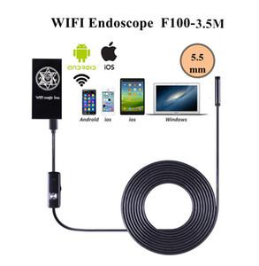 3.5 M Cabo Wifi Câmera Endoscópio 5.5mm Lente 6 LED Android IOS Endoscópio Câmera Câmera de Endoscópio Sem Fio À Prova D 'Água Do Iphone