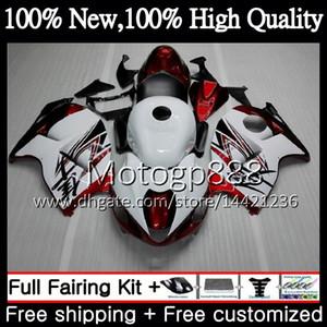 Cuerpo para SUZUKI Hayabusa GSXR1300 96 07 1996 1997 1998 56PG32 GSXR 1300 GSXR-1300 Rojo blanco GSX R1300 1999 2000 2001 Fairing Bodywork