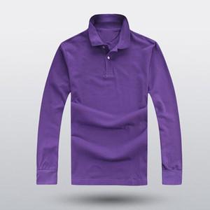 666 Одежда 2018 горячая мужская рубашка поло с вышивкой крокодилом qulity Polos Мужчины хлопчатобумажная рубашка с длинным рукавом трикотажные изделия s-ports Plus M-4XL Hot Sale