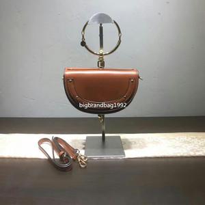 2020 En Yeni 20cm Perçin hakiki deri kadın çanta Döngüsü Yüzük ünlü omuz çantası bayan küçük çanta Moda ücretsiz gönderim