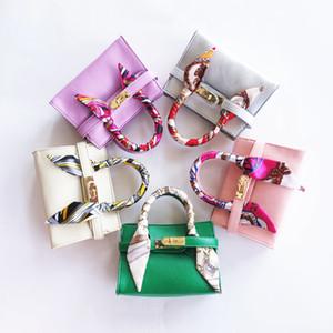 New Kids Handbags PU Cuero con bufanda Color Color Bebé Bebé Diseñador Niños Messenger Bags Fashion Baby Productos Bebé Niño Monedero