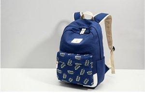 Schoolbag Canva + Oxford Sac à dos Voyage Sac à dos Le tissu de loisir Tissu A21 Sacs de tissus extérieurs à haute capacité à rayures à rayures JQREN