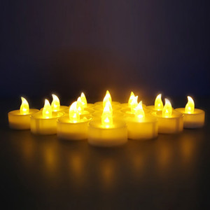 Flickering Led Flameless Candles Light LED Tealight for Wedding Birthday Party Christmas Safety night lamp ZYD0015