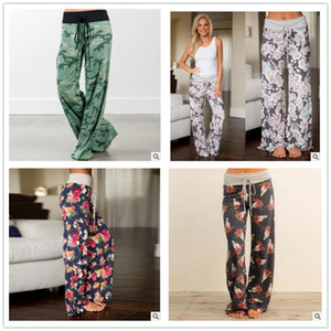 24 cores Yoga Fitness Calças Perna Larga Mulheres Calças Esportivas Flare Casual Moda Harem Pants Palazzo Capris Senhora Calças Calças Soltas calças Compridas