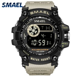 SMAEL Men Watches Military Army LED Digital Wristwatch relogio masculino Clock Men Big Dial 8010 Digital Watches Sports Outdoor