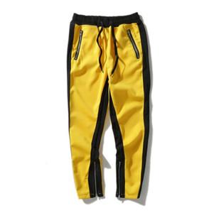 أفضل 2019 الخوف من الله الضباب جاستن بيبر الجانب سستة عارضة sweatpants الرجال الهيب jogger المسار السراويل الرياضية S-XL