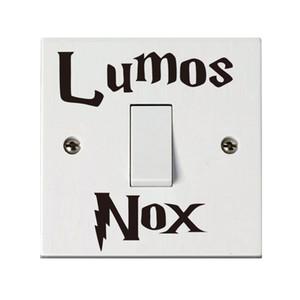 1 개 Lumos NOx 벽 스티커 고전적인 해리 포터 스위치 스위치 스티커 for Kids Room 홈 인테리어 친밀한 액세서리
