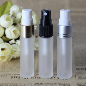 Hot vente 10ml parfum en verre givré avec flacons d'échantillons 3 couleurs Atomizer 10 ml Bouteille vide Spray Or Noir Argent Couvercles
