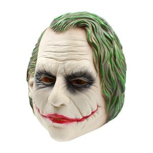 Joker Máscara Batman Realista Traje Do Palhaço Máscara de Halloween Adulto Cosplay Filme Full Head Latex Máscara Do Partido