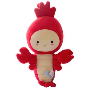 Nouveau animal homard en peluche peluche anime écrevisses en peluche poupée langouste simulation créative bébé anniversaire cadeau de noël 30cm LA054