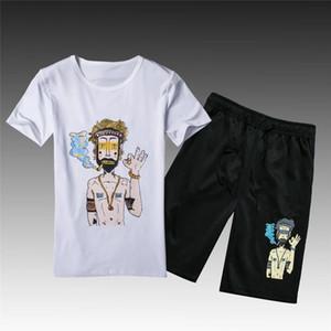 Летний спортивный костюм новый мужской спортивный короткий костюм мужчины мода шорты набор мужчины обучение повседневная костюм для продажи