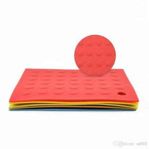 Resistente al calor Copa Pad Silicona Vajilla Mat Multi Color en Slip Disc Pads Easy Carry Small 2 84tl C R