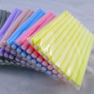 Nueva Arrivals10 piezas de espuma suave Bendy torcedura rizador de pelo Sticks Diseño DIY herramienta del fabricante de rodillos Curl