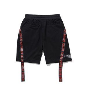 2018 Sommer neue Marke Männer Shorts Justin Bieber Zip Pocket Terry Shorts Zerrissene Raw Hem Streetwear Hohe Qualität Shorts
