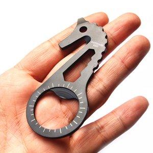 Apribottiglie multifunzione EDC da esterno in acciaio inossidabile a 4 chiavi in acciaio inossidabile 5hk nero B