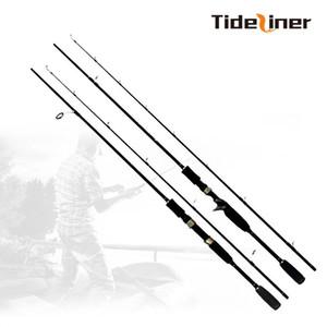 Tiediner 1.8 m spinning baitcasting esca da pesca colata canna da pesca richiamo peso 10-30g MH potere asta in fibra di carbonio alta